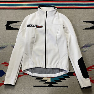 Castelli Techno Fleece Lined Cycling Racing Jacket Womens Size Small White