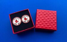 Boston Red Sox Cufflinks Logo Emblem Fan NEW