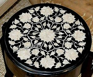 16 Inches Marble Coffee Table Top Peitra Dura Art End Table from Cottage Crafts