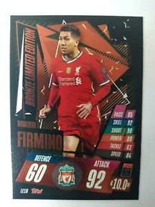 MATCH ATTAX 2020/21 LIMITED EDITION LE1B ROBERTO FIRMINO BRONZE NEW