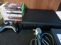 Microsoft Xbox 360 Elite 120 GB Black Console Bundle - 9 Games - Tested
