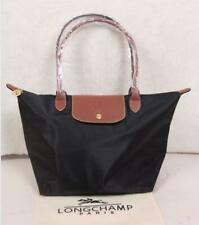 Classic Longchamp Le Pliage Tote Bag Nylon Shopping Handbag BLACK SIZE L & M