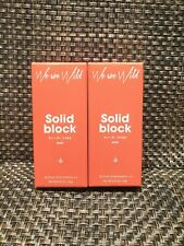 We Are Wild Solid Block Mineral Sunscreen Active Cannabis ++ 23g each