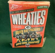 Green Bay Packers WHEATIES- SuperBowl XXXI-(FULL) Never Opened-Mint Condition
