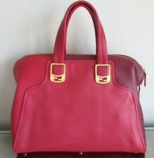 ed9acb0117 FENDI Two Tone Red Textured Leather Chameleon Bag with Gold Hardware - NWOT