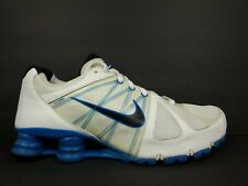 Nike Shox Agent Mens Size 10 Running Shoes White Blue Black Turbo NZ 438684 104