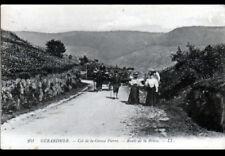 GERARDMER (88) ATTELAGE au COL DE LA GROSSE PIERRE / Route de LA BRESSE en 1913