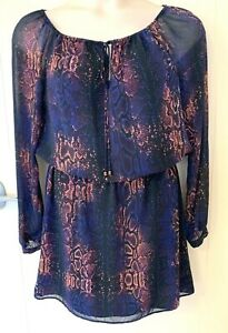 WAYNE COOPER - lovely blouson dress - excellent condition - size 12/14