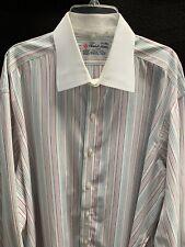 Turnbull & Asser French Cuff Stripe Dress Shirt~17.5-44 CM~
