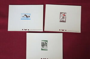 Niger. Scott 114-116. Deluxe Proof Sheets. Sports. Only 122-250 sets printed.