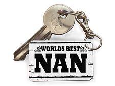 Worlds Best Nan Cute Novelty Keyrings Fun Cheap Birthday Gift Key Present