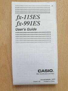 Gebrauchsanleitung / User's Guide CASIO fx-115ES + fx-991ES - Taschenrechner *