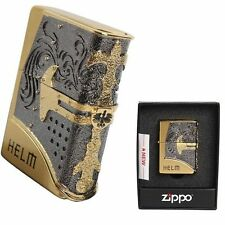 Zippo Helm Gold Lighter Made in USA /GENUINE and ORIGINAL Packing