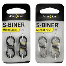 NITE IZE MicroLock S-Biner Mini Karabiner Schnapp Haken Schlüssel Ring Anhänger
