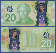 KANADA / CANADA 20 Dollars 2015 Polymer COMMEMORATIVE  UNC  P. NEW