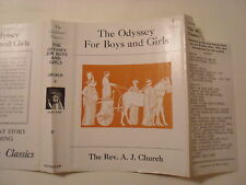 The Odyssey for Boys and Girls, Rev A J Church, Dust Jacket Only