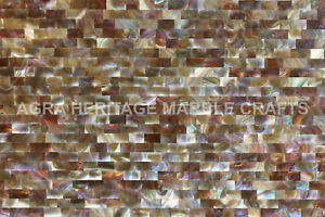 4'x2' White Mother Of Pearl Snow Natural Stone Marble Slab Inlay Gemstone E233