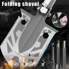 23 in 1 Folding Survival Shovel Spade Military Camping Hiking Hunting Mutil Tool
