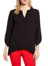 GIBSON X Front Quarter Sleeve Tunic Top (XS) Nordstrom
