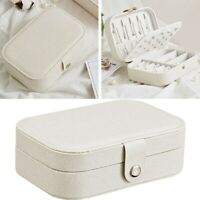 Earring Ring Jewelry Display Storage Box Case Organizer Flannel Tray Holder 998