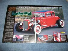 "1930 Ford 5-Window Coupe Hot Rod Highboy Article ""Lucky Me!"""