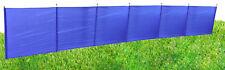 BLUE 7 POLE WINDBREAK with METAL ENDS camping caravan beach motorhome
