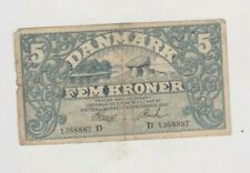 More details for p20h prefix d 1920 denmark five kroner banknote in good fine condition.