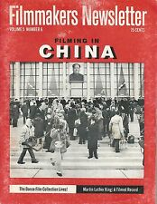 April 1972 Filmmakers Newsletter~Filming in China~Martin Luther King-Filmed Reco