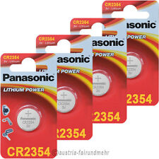 4x PANASONIC CR2354 Lithium Batterien für Polaruhr 3V