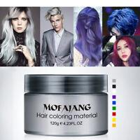 Unisex DIY Haarfarbe Wachs Schlammfarbe Creme Temporäre Modellierung 9 Farben 12