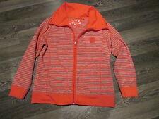 Pullover mit RV, Jacke, Sweat-Jacke Gr. M Fb. rot/grau von CANDA