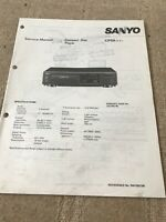 Sanyo CP-59 service manual  For Compact Disc Player