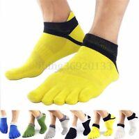 Uomo Cinque Dita Calze 5 Toe Calzini Traspirante Elastico Sportiva Cotone Socks