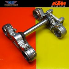 1995 KTM 400 RXC 350 620 LC4 Triple Clamp Steering Stem Fork Tree Bar Clamps