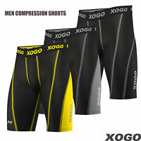 Mens Compression Shorts Briefs Skin Tights Gym Base Layer Under Pants Sport Wear