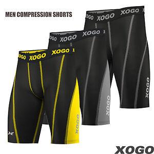 Mens Compression Shorts Briefs Skin Tights Gym Base Layer Under Pants Sport Wear