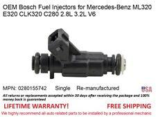 For Mercedes E320 C280 ML320 2.8L 3.2L Set 6 OEM Bosch Fuel Injector 0280155742