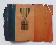 RELIQUE DRAPEAU PAPIER MEDAILLE ORDRE DE LA LIBERATION 25 AOUT 1944 PARIS WWII