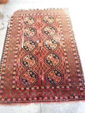 1920s Turkmnen ersari wool tribal rug collectible home decorative 5.9ftx6.6 ft