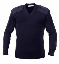Rothco Acrylic V-neck Sweater 2x-large Navy