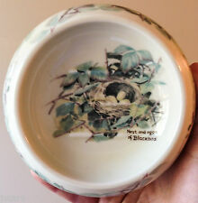1977 NEST AND EGGS OF BLACKBIRD SOAP DISH, THE COUNTRY DIARY COLLECTION