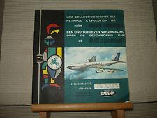 """L/100  Album Chromos Chocolat Jacques """" Aviation Commerciale  """" Sabena Complet"""