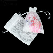12pcs 10x15cm Lace Bags Jewelry Pouch for Wedding Favor Decor Candy Bag Gift