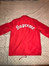 supreme old english coaches jacket Red Sz M