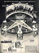 Película de tecnología de proyección anuncio 1952 Cinerama Cine Arte Cartel CC2703