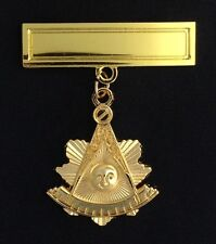 Masonic Past Master's Pendant with Engraving Bar (PM2-PB)