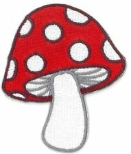 MUSHROOM RED iron on/sew on Embroidered Patch Applique DIY (US Seller)