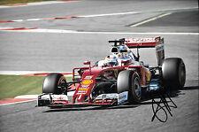 Sebastian Vettel SIGNED 12x8, F1 Scuderia-Ferrari SF16-T  F1 Test Barcelona 2016