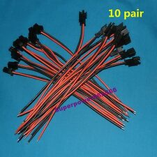 10pair 150mm 20AWG Silicone Wire JST-SMP/R-2P Male & Female Connectors battery