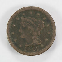 1847 BRAIDED HAIR 1C LARGE CENT ** NICE DETAIL Lot#J002